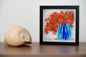 Workshop glas Glasfusing bloem