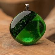 Glashanger groen Green Glitter
