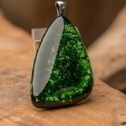 Glashanger groen Green Glitter Triangle