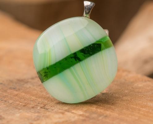 Glashanger groen Green striped